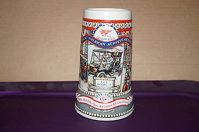 1987 Miller Beer Stein ...great American Achievements...the 1908 Model T