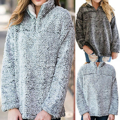 Casual Womens Pullover Jumper Hoodie Long Sleeve Coat Sweatshirt Tops Blouse New