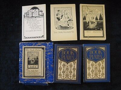 Box of Art Nouveau Ex Libris / Book Plates 3 different images early 1900's