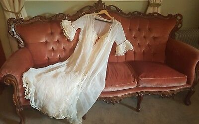 vintage nightgown - two piece in excellect condition