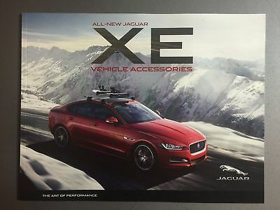 2016 Jaguar XE Accessories Showroom Advertising Sales Brochure RARE!! Awesome