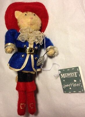Heart Felts Ornament Cat Puss In Boots Midwest Of Cannon Falls