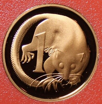 Rare Proof Australia 1990 Cent~Echidna~53,000 Minted~Feather-Tailed Glider~Fr/Sh