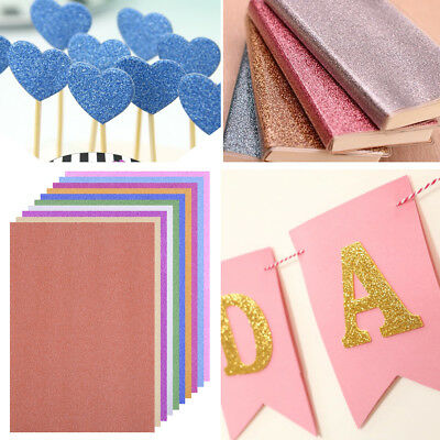 10pcs A4 Glitter Paper Shiny Scrapbooking Handicraft Animal Lucky Bird Gift DIY
