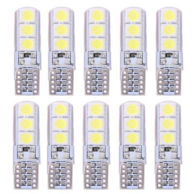 10X T10 5050 W5W 5 SMD LED White Car Side Wedge Tail Light Lamp Bulb Waterproof