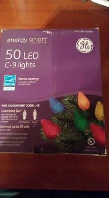 GE Energy Smart Colorite 50 LED Multi-color C9 Lights Green Wire Indoor/Outdoor