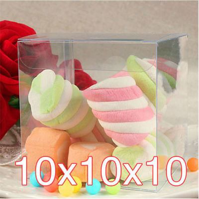 Clear PVC Boxes Cupcake Candy Cases Wedding Bomboniere Favor Gift Packing 10CM