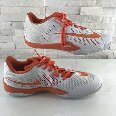 quality design 627b1 0a9ca NEW Nike HYPERLIVE TB Mens Basketball Shoes Sneakers White Orange SZ 17.5  834488