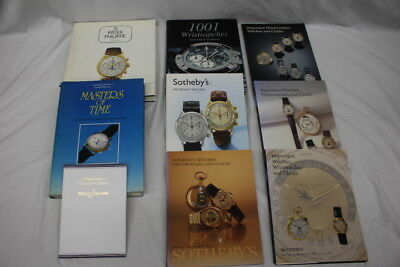 Lot of 9 High-End Designer WRISTWATCHES Catalog & Info Books: Sotheby's & More!