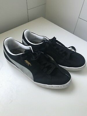 Puma Suede Classic Black and White