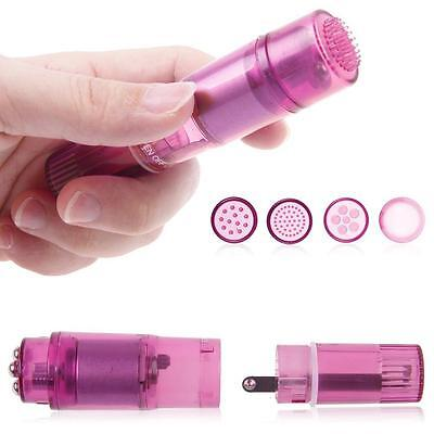 HOT Mini Personal Vibrating Full Body Massagers Travel Rockets with 4 Heads