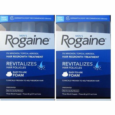 Men's ROGAINE Hair Regrowth Unscented Foam - FRESHNESS GUARNTEED