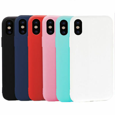 Silicone Cute Candy Rubber Gel TPU Case Cover Skin For iPhone X 8 Plus