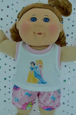 "Play n Wear Doll Clothes For 14"" Cabbage Patch  PJ'S~SATIN BOXER SHORTS~SINGLET"