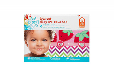 The Honest Company Diapers, Strawberries and Chevron, 68 Count, Size 3