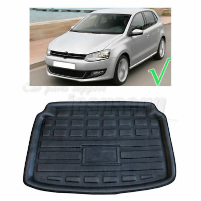 Trunk Cargo Boot Rear Liner Floor Tray Mat Black For VW Polo 6R 2012-2017