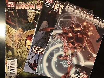 The Invincible Iron Man lot 1 8 22 Variant Marvel Comics Book VF/NM Fraction