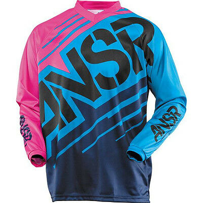 NEW ANSWER MX A14 Blue Pink Jersey Womens Ladies Motocross Size XL Moto Top