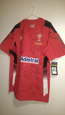 Limited edition 14/15 mens Wales rugby shirt signed with cert of authenticity
