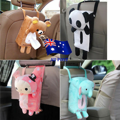 Lovely Car Home Rectangle Tissue Box Cover Holder Paper Box Bathroom Storage SN