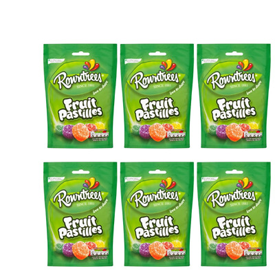 905992 6 x 150g POUCHES OF ROWNTREES' FRUIT PASTILLES LOVE TO SHARE SINCE 1881!