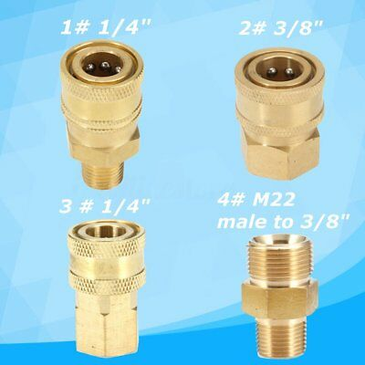 4 SIZE 1/4''/3/8'' 4000PSI Brass Quick Connect Coupler Car Clean Pressure Washer