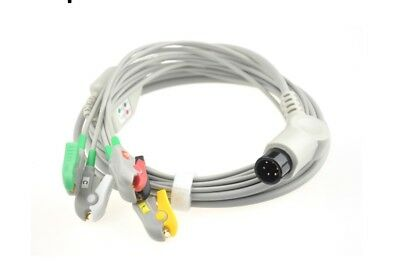 Normal Universally 5 lead ECG Cable with leadwires Clip Type Compatible