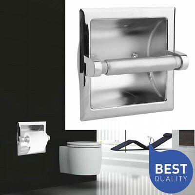 Wall Mounted Recessed Toilet Paper Holder with Stainless Steel Construction EK