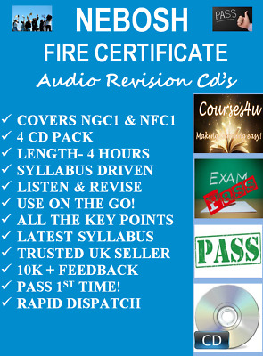 nebosh fire certificate revision audio pack dvd rom pass 1st time