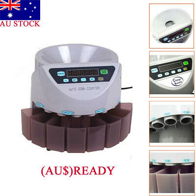 355 x 330 x266mm Australian Coin Sorter Counter Automatic Money Counting Machine