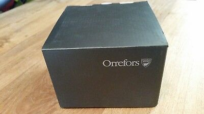 ORREFORS Crystal Raspberry/Hallon clear candle votive **BRAND NEW