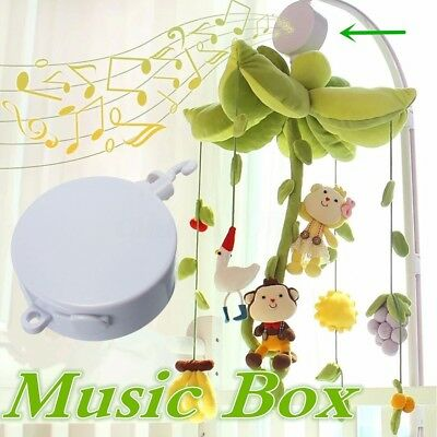 Rotary Baby Infant Kids Mobile Crib Bed Toy Clockwork Movement Music Box Bedding