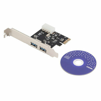 PCI-Express PCI-E to USB 3.0 2Port PC Expansion Adapter Card For Vista Win 7 uR
