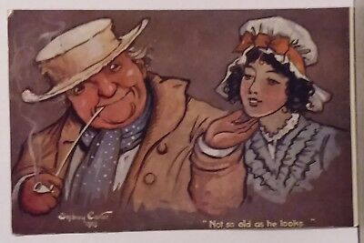 Sydney Carter sign,Not So Old As He Looks,Tuck Brown Paper Series 1740 Postcard