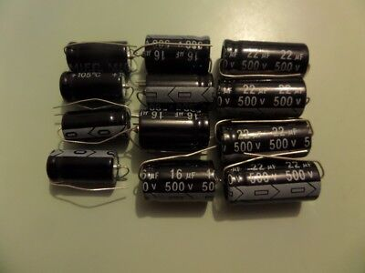 Radio Electrolytics axials   christmas  deal 12 pieces 500 volt new