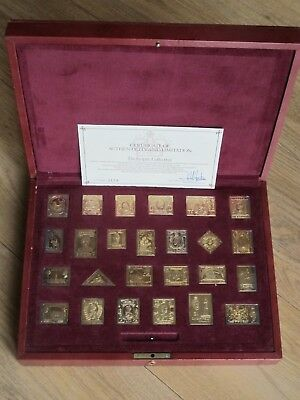 The Empire Collection of Great British Stamps - Silver 925 Gold Plated