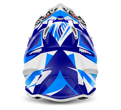 Airoh Aviator 2.2 Flash Blue Motocross Helmet Gold Stamped Approved