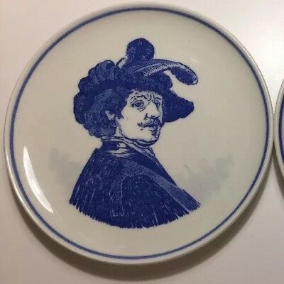 Vintage Unique Item Delft Royal Hand painted Finest China Wall Dish Plate 6/3