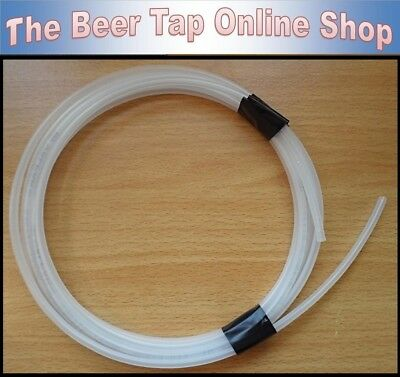 "Valpar 3/16"" Outside Diameter Clear Beer Line / MDPE Pipe (4.8mm OD 3mm ID) - UK"