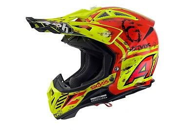 Airoh Aviator 2.2 Six Days 2017 Motocross Helmet Gold Stamped Approved