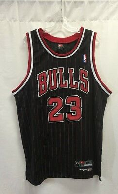 newest 5cff9 87a32 VINTAGE AUTHENTIC MICHAEL Jordan Chicago Bulls Jersey NBA Nike Size 52 Black
