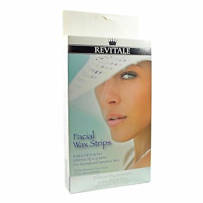 Revitale Facial Waxing Strips Face Chin Upper Lip Jaw Hair Removal