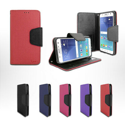 For Samsung Galaxy J7 Sky Pro S727VL Wallet Leather Fold Stand Case Cover