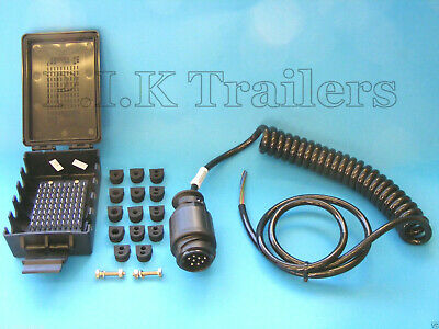 Ifor Williams Trailers 8 Pin Suzie Curly Front Cable Assembly & Junction Box