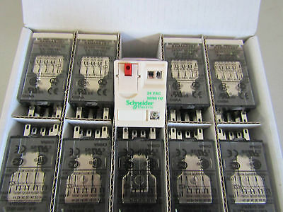 Box of 10 x Schneider 24v RXM4AB2B7 4PDT Socket Mount Non-Latching Relay 8497623