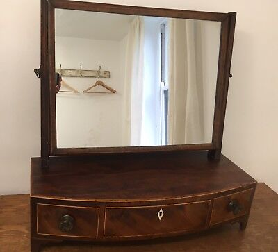 Antique early 19th century Inlaid mahogany Dressing Table Mirror