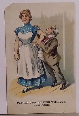 """Vintage Comic Postcard """"Father gets on fine with .."""" London View Co, Series No31"""