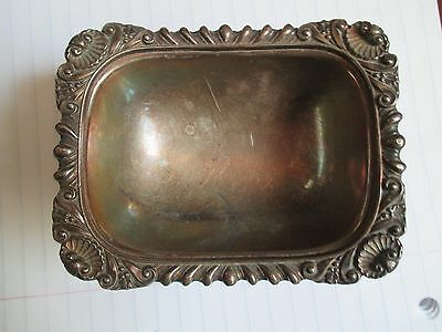 Antique English/Maker Ellis Barker Silver Plate Open Salt Cellar #3431