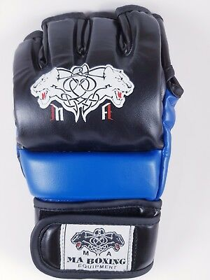 Authentic Rex Leather MMA Grappling Gloves UFC Fight Boxing Punch Bag Sparring