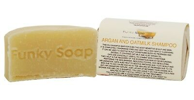 1 piece Argan Oil and Oatmilk Shampoo Bar, 65g, 100% Natural Handmade
